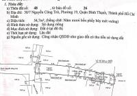 Bán nhà nát hẻm Nguyễn Công Trứ, Phường 19, Bình Thạnh, hậu là mặt tiền chung cư Phạm Viết Chánh