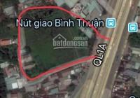 Bán đất 2MT QL 1A và Nguyễn Văn Linh đối diện bến xe Miền Tây mới 9100m2 giá 95 tỷ, 0906975715