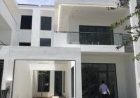 Bán gấp nhà 1 trệt 2 lầu, 256m2 giá tốt, sổ hồng riêng, mặt sông, CV, lô góc thuộc KDC La Maison