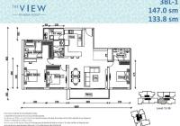 Bán gấp căn hộ The View, 148m2 hoàn thiện của cơ bản giá 7tỷ2, LH 0909153869