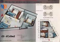 Chính chủ bán gấp CC CT1 Yên Nghĩa, Hà Đông DT 67m2, ban công ĐN, giá gốc 12,5tr/m2 0916.419.028