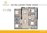 Bán căn hộ 4PN view trực tiếp công viên Cầu Giấy. Nhận nhà ở ngay, chiết khấu 500 triệu