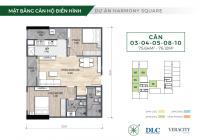 Bảng hàng tổng hợp căn hộ Harmony Square - CK 3%, vay HTLS 12 tháng, quà tặng 35tr, miễn PDV 3 năm