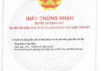 Chính chủ bán lô đất MT QL13, Tân Định, Bến Cát, Bình Dương LH 0987899899
