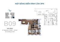 Chính chủ cần bán căn góc B09, B11 3PN, dt 114m2-98m2 ban công Đông Nam - Tây Nam tòa Thiên Niên Kỷ