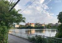 Bán 100m2 Phú Thị, mặt tiền 6m nở hậu, đường trước nhà 5m view hồ cực đẹp, LH: 0987.494.666
