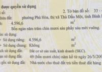 Bán nhà xưởng 4595.6m2, Phú Hòa, Thủ Dầu Một, Bình Dương