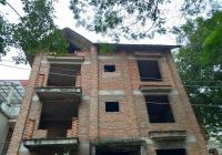 Cho thuê BT đơn lâp, lô góc xây thô đường Trần Thủ Độ, KĐT Pháp Vân, 4 tầng, 300m2, giá 20 tr/tháng