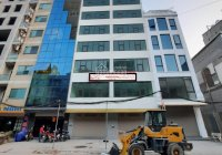 Cho thuê tòa nhà đường Hà Cầu, Hà Đông, Hà Nội DT 170m2, 9t, MT 8m thông sàn giá 90tr/th 0356766550