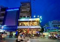 Cho thuê nhà góc 2 mặt tiền Hai Bà Trưng, P. Tân Định, Q.1. 8x22m 1 trệt 2 lầu + 5 lầu