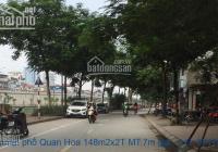 Bán nhà mặt phố Quan Hoa 148m2x8T MT:7m giá 52tỷ