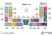 CHÍNH CHỦ BÁN CĂN 3PN ANLAND COMPLEX - ANLAND 1 GIÁ 2,070 BAN CÔNG ĐÔNG BẮC