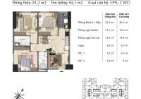 Bán căn góc 3pn 81,2m2 đẹp nhất dự án Eurowindow River Park tầng trung giá tốt
