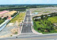 Cần tiền bán gấp 2 nền liền kề dự án Lago Centro mặt tiền liền kề KCN Hựu Thạnh, Tân Đức