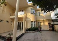 Cho thuê Villa 15x20m sân vườn, trệt 1 lầu 4P, gara Trần Não Bình An Quận 2