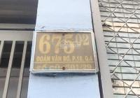 Cho thuê nhà mặt tiền tiện kinh doanh đường Đoàn Văn Bơ, Phường 18, Quận 4