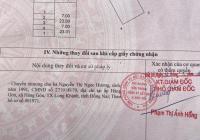 Bán đất xã Lộc An - Đất Đỏ - BTVT, cách biển 800m, DT 7x23m full TC. Giá 1 tỷ 550