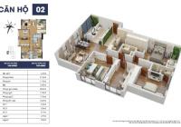 Bán căn hộ DT 160m2 - 4 phòng ngủ view 3 mặt thoáng BC Đông Nam đóng 50% (2.2 tỷ) nhận nhà ngay
