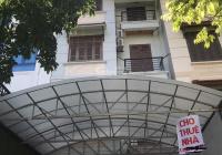 Cho thuê nhà mặt phố Khúc Thừa Dụ. DT 109m2, xây 70m2, nhà xây 4 tầng 1 tum, 1 hầm, mặt tiền 6m