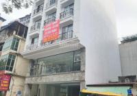 Cho thuê nhà mặt phố Trần Quốc Hoàn, Cầu Giấy. DT 60m2 * 6T, mặt tiền 7.5m thông sàn có thang máy
