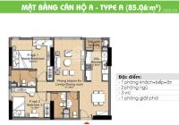 Cần bán gấp căn hộ CC Era Town Đức Khải, Q7, 1tỷ7, 85m2, 2PN, LH 0902339985
