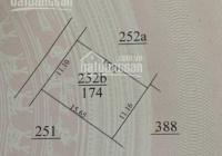 Đất thổ cư có thế phân 3 lô đẹp 174m2 thôn Cát Thuế, Vân Côn, Hoài Đức