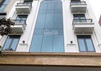 Cho thuê tòa nhà MP Lê Đức Thọ, DT 130m2 * 8 tầng, MT 7m, thông sàn, có thang máy, PCCC. Giá 150tr