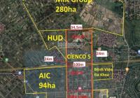 Chính chủ bán nền liền kề Cienco5 Mê Linh, giá 21,5tr/m2, 0987144918