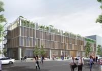 Cho thuê mặt bằng thương mai tòa nhà mới hoàn thiện 64 Bạch Đằng 1400m2 x 3 tầng, mặt tiền 60m