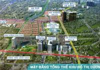 Bán BT An Khang lô góc 4 mặt thoáng, nhìn vườn hoa gần hồ điều hòa, siêu thị Aeon Hà Đông dt 352m2
