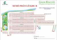 Bán đất KDC Green Riverside đường Huỳnh Tấn Phát, giá 45tr/m2, DT 80m2, đường 8m. LH: 0938792304