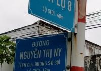 Đất mặt tiền đường Nguyễn Thị Ny, Xã Tân Thạnh Tây, huyện Củ Chi, DT: 7 x 30m giá 2tỷ290tr
