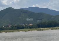 Nhỉnh tỷ 599,6 m2 2 mặt tiền bám sông Đà view sông view núi Khánh Thượng Ba Vì Hà Nội, 0981432819