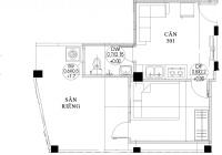 Căn hộ penthouse có sân riêng biệt 48m2, đường rộng ô tô