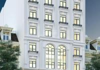 Cho thuê tòa nhà 9 tầng có hầm mới XD MP Hoàng Quốc Việt, DTSD 2700m2 thông sàn KD tốt giá 380tr/th