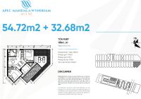 Apec Mũi Né Block Ruby - Diamond căn góc 2PN - 54m2, 87m2, tầng 12,18,20, view biển giá 2.7tỷ (VAT)