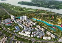 Bán căn hộ 2 phòng ngủ, 65m2, đảo Swan Bay Đại Phước Đồng Nai, tầng 13A, phòng khách view golf sông