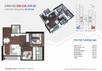Bán căn góc CH12A hướng Đông Nam view Vinhomes đẹp nhất dự án rẻ 100tr HH Grand Tower. 0354.111.039
