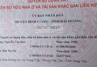 Bán đất xã Cổ Bi, huyện Bình Giang, Hải Dương
