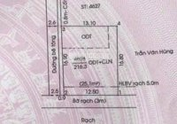 Đất Tân An gần chợ Bến Thế, DT: 216,3m2 thổ cư 60m2 (giá thu hồi vốn)