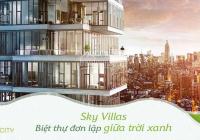 Sky Villa - căn hộ duy nhất có xe lên tận nhà với garage riêng đảm bảo thuận tiện và riêng tư