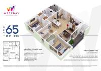 Bán căn hoa hậu 65m2 Westbay Ecopark, nội thất đẹp. Giá 2.06 tỷ, LH 0388494643a
