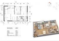 Bán lỗ 150 triệu căn hộ 2PN 2WC rộng 74m2. Giá 3,7 tỷ bao hết thuế phí, LH: 0903777464