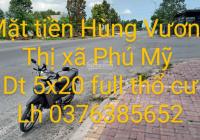 Bán đất mặt tiền đường Hùng Vương ( còn gọi đường P)