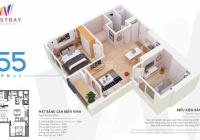 Bán căn hộ 55m2 2PN 1WC đủ đồ đẹp tầng trung giá 1.67 tỷ bao phí. Liên hệ: 0867966695 để xem nhà!