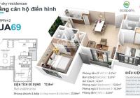 Chính chủ gửi bán căn hộ 69m2, 2PN 2WC nhà nguyên bản CĐT, ban công Đông Nam, giá 1,8 tỷ bao phí