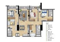 Bán căn hộ kép 2 cửa chính DT 135m2 gồm 3PN + 1 studio (40m2) giá 3.7 tỷ đóng 50% nhận nhà