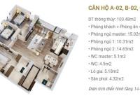 Chính chủ cần bán căn 3 ngủ 108m toà C Imperia Sky Garden, nhà chưa ở. Giá 4,3 tỷ bao phí sang tên