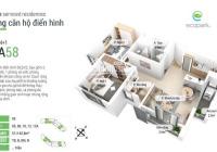 Bán căn hộ 58m Aquabay 2PN và 1 WC.Nội thất cơ bản, đã có sổ.GIá 1,65 tỷ bao phí.LH 0397803686