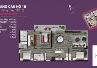 Bán gấp căn hộ 142m2 - 3PN, 2WC chung cư The Nine, Vay ngân hàng 0% 18 tháng - quà tặng khủng 100tr